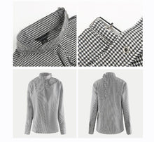 Load image into Gallery viewer, Beiby Bamboo Blouses & Shirts Plaid / S Women Plaid One Cold Shoulder Soft Blouse