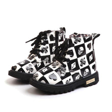 Load image into Gallery viewer, Beiby Bamboo BOOTS Black / 5.5 Martin Cartoon Print Boots