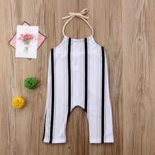 Load image into Gallery viewer, Beiby Bamboo Clothing Sets 2T Summer Toddler Baby Girls Stripe Backless Sleeveless Romper 0-5T
