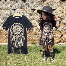 Load image into Gallery viewer, Beiby Bamboo Dresses as picture / 4T Dreamcatcher Cotton Dress