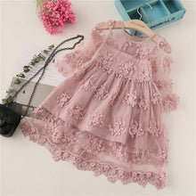 Load image into Gallery viewer, Beiby Bamboo Dresses Pink / 24M Lace Flower Dress