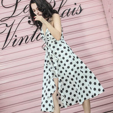 Load image into Gallery viewer, Beiby Bamboo Dresses S Summer Vintage Irregular Polka Dot Chiffon Dress