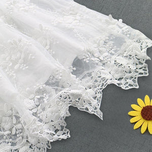 Beiby Bamboo Dresses White / 24M Lace Flower Dress