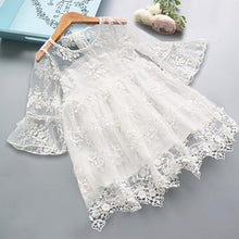 Load image into Gallery viewer, Beiby Bamboo Dresses White / 24M Lace Flower Dress