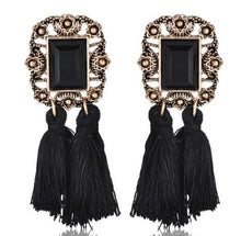 Load image into Gallery viewer, Bohemian Long Statement Tassel Drop Earrings