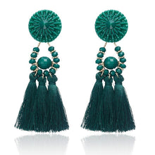 Load image into Gallery viewer, Beiby Bamboo Drop Earrings E0502 white Bohemian Long Statement Tassel Drop Earrings
