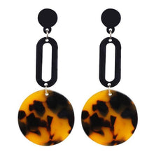 Load image into Gallery viewer, Beiby Bamboo Drop Earrings E1091 brown Tortoise Shell Earrings