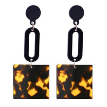 Load image into Gallery viewer, Beiby Bamboo Drop Earrings E1101 brown Tortoise Shell Earrings