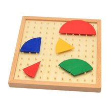 Load image into Gallery viewer, Beiby Bamboo Educational Toys Montessori Wooden Mathematics Fraction Circular Board