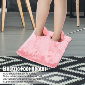 Beiby Bamboo Electric Heating Pads Gray Electric Foot Warmer Heating Pad