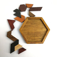 Load image into Gallery viewer, Beiby Bamboo Hexagonal Wooden Puzzles