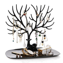 Load image into Gallery viewer, Beiby Bamboo Jewelry Packaging & Display black Little Deer Earrings Necklace Ring Pendant Bracelet Jewelry Display Stand