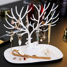 Load image into Gallery viewer, Beiby Bamboo Jewelry Packaging & Display white Little Deer Earrings Necklace Ring Pendant Bracelet Jewelry Display Stand