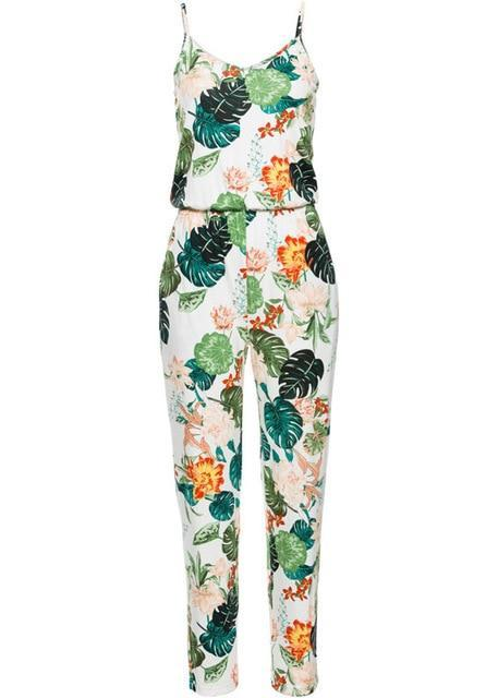 Beiby Bamboo Jumpsuits color 1 / S Women Floral Beach Coveralls