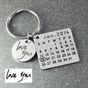 Beiby Bamboo keychain Alloy gold color Personalized Calendar Keychain
