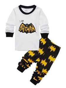 Beiby Bamboo Kids Pajamas Set style 2 / 2T Unisex Pajamas Sets(Super Heros And Disney Characters)