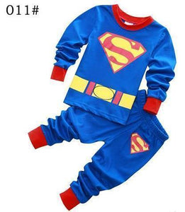 Beiby Bamboo Kids Pajamas Set style 6 / 2T Unisex Pajamas Sets(Super Heros And Disney Characters)