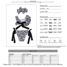 Load image into Gallery viewer, Beiby Bamboo kids swim suit XXS Baby Girls two-piece Leopard Off-shoulder Swimsuit, Color - Bandage Swimsuit Set