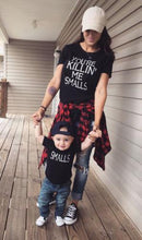 Load image into Gallery viewer, Beiby Bamboo Matching Family Outfits Adult S Fashion Family Matching Tee Tops