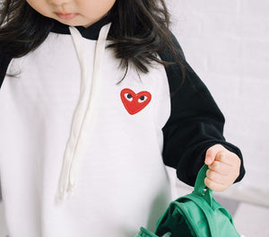 "Beiby Bamboo Matching Family Outfits Black / 18M ""Little Red Heart"" Family Matching Hoodies"