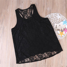 Load image into Gallery viewer, Beiby Bamboo Matching Family Outfits Black / XS Mother And Daughter Matching Lace Tops