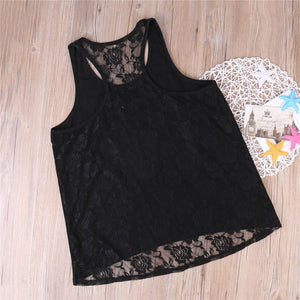 Beiby Bamboo Matching Family Outfits Black / XS Mother And Daughter Matching Lace Tops