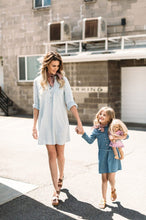 Load image into Gallery viewer, Beiby Bamboo Matching Family Outfits blue / Mother S Mother And Daughter Matching Denim Dress