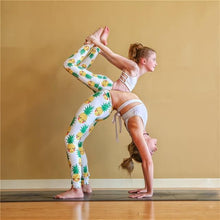 Load image into Gallery viewer, Beiby Bamboo Matching Family Outfits Pineapple / Child-2T Mother Daughter Sport Yoga Leggings