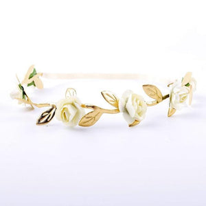 Beiby Bamboo Matching Outfits Hair Accessories Beige Baby Girl Leaves Flowers Headband