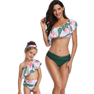9afffc85d6d Mother Daughter Matching 2 Pieces Swimsuit 2019