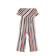 Load image into Gallery viewer, Beiby Bamboo Matching Outfits Matching Family Outfits mom jumpsuit / S Summer Fashion Striped Matching Mother Jumpsuit Daughter Dresses