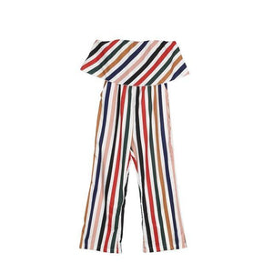 Beiby Bamboo Matching Outfits Matching Family Outfits mom jumpsuit / S Summer Fashion Striped Matching Mother Jumpsuit Daughter Dresses