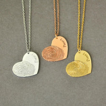 Load image into Gallery viewer, Beiby Bamboo necklace Gold Color / 18 inches Personalized Fingerprint Necklace