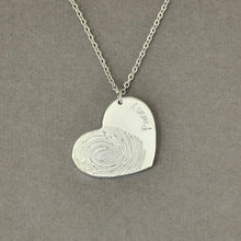 Load image into Gallery viewer, Beiby Bamboo necklace Silver Color / 18 inches Personalized Fingerprint Necklace