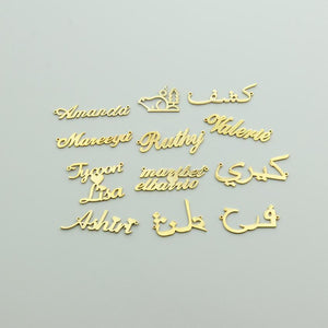 Beiby Bamboo necklaces Gold Color Customized Name Necklace