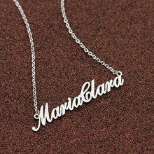 Load image into Gallery viewer, Beiby Bamboo necklaces Platinum Plated Customized Name Necklace