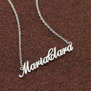 Beiby Bamboo necklaces Platinum Plated Customized Name Necklace