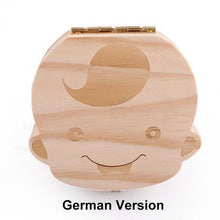 Load image into Gallery viewer, Beiby Bamboo organizer German Boy Wooden Tooth Box Organizer Boys and Girls