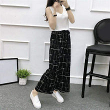 Load image into Gallery viewer, Beiby Bamboo Pants & Capris A / M Womens Wide Leg High Waist Casual Summer Thin Pants