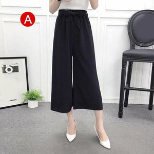Beiby Bamboo Pants & Capris A / M Womens Wide Leg High Waist Casual Summer Thin Pants