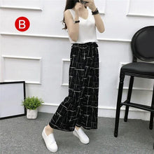 Load image into Gallery viewer, Beiby Bamboo Pants & Capris B / M Womens Wide Leg High Waist Casual Summer Thin Pants
