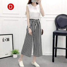 Load image into Gallery viewer, Beiby Bamboo Pants & Capris D / M Womens Wide Leg High Waist Casual Summer Thin Pants