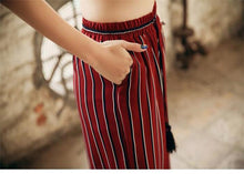 Load image into Gallery viewer, Beiby Bamboo Pants & Capris Red / S Summer Wide Leg Pants For Women