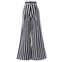 Load image into Gallery viewer, Beiby Bamboo Pants & Capris S Women's High Waist Casual Black& White Striped Long Pants