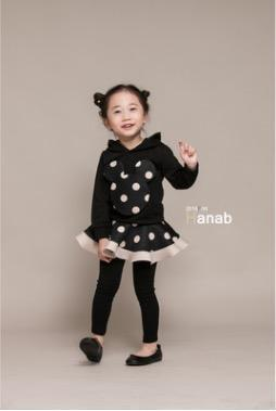 Beiby Bamboo sets girls set / 3T Twins Polka Dot 2 Pieces Set