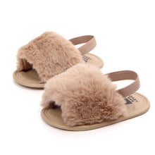 Load image into Gallery viewer, Beiby Bamboo shoes Khaki / 0-6 Months Baby Girl Soft Anti-slip Fur Loafers