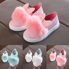 Load image into Gallery viewer, Beiby Bamboo SHOES Light Blue / 13.5 Toddlers Baby Girls Rabbit Ear Pompom Shoes