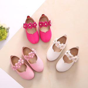 Beiby Bamboo shoes pink / 11 Flower Leather Shoes