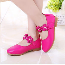 Load image into Gallery viewer, Beiby Bamboo shoes pink / 11 Flower Leather Shoes