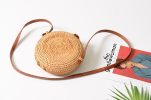 Beiby Bamboo Shoulder Bags A Women Summer Handmade Woven Beach Cross Body Bag